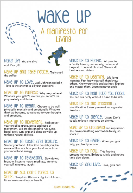 Wake Up – A Manifesto for Living